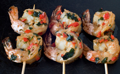 Seared Prawns with Coriander and Chilli
